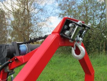 Electric winch kit for ATV log hauler