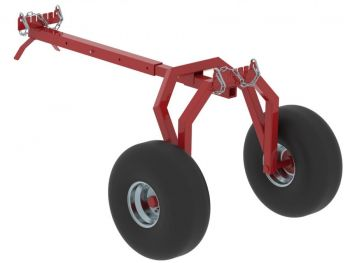 ATV log hauler REAR support part