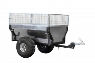 """ATV quad bike trailer """"ECO 300"""" + box extender + with pull bar extension / rotating hitch coupling"""