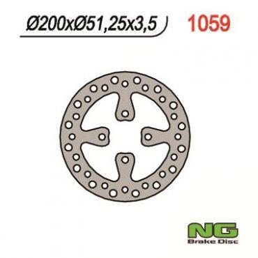 Rear brake disc for YFZ450 06-08, YFM700 Raptor 06-08