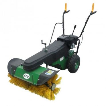 Sweeper with engine
