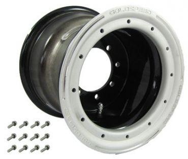 GS: 9X6 4/110/115 2B+4N 2X BL 2X BEADLOCK BLACK-SAND-BL RING