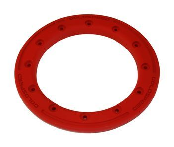 GS:BEAD-LOCK RING 10-INCH RED POLYMER CARBON + BOLTS